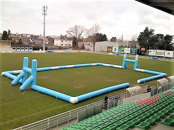terrain rugby gonflable nantes