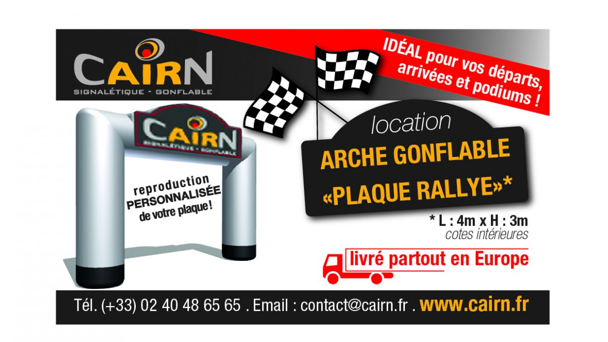 location arche gonflable rallye