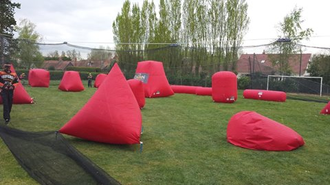 structures gonflables pour paintball